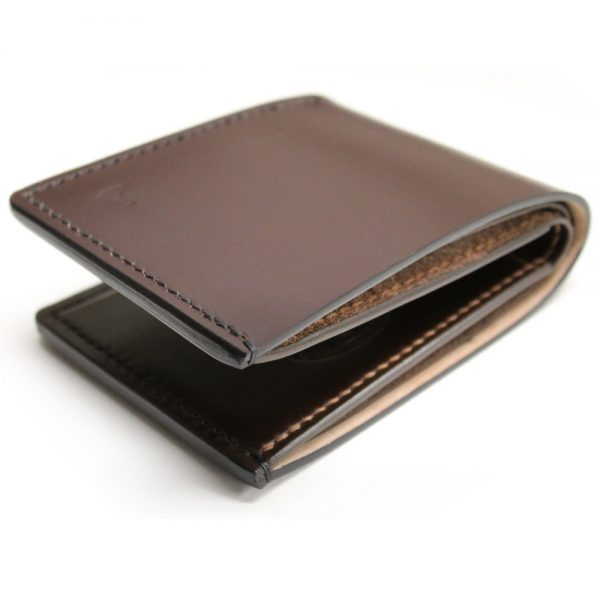 Brown Shell Cordovan Bifold Wallet