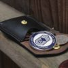 Leather coin pouch