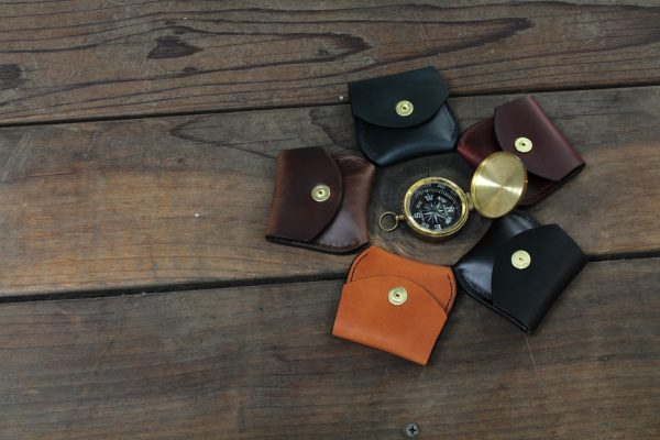 Small leather coin purse