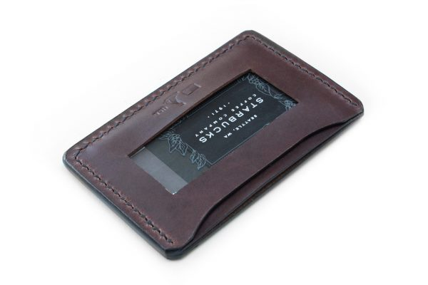 Leather drivers license holder
